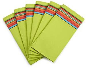 DII Ole' Ole' Ole' Margarita Napkin with Stripe, Set of 6