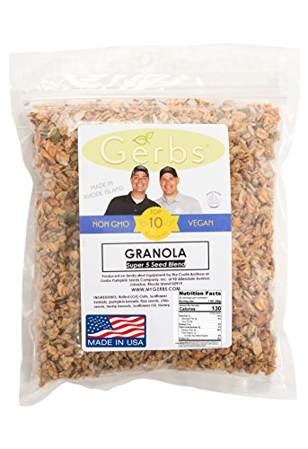 Super 5 Seed Granola (Pumpkin, Sunflower, Chia, Hemp, Flax) - 2 LBS - Top 11 Food Allergen Free & NON GMO - Vegan & Kosher (Sunflower And Pumpkin Seeds compare prices)