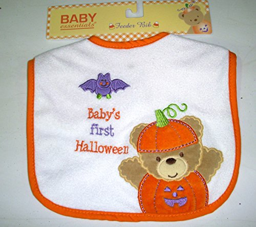 Baby's First Halloween Bat Bear Baby Bib Costume NWT