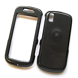 Samsung Instinct S30 M810 Sprint Snap On Protector Hard Case Image Cover Carbon Fiber
