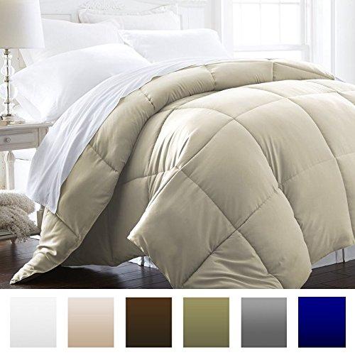 Beckham-Hotel-Collection-Lightweight-Luxury-Goose-Down-Alternative-Comforter-Hypoallergenic-FullQueen-IvorySolid