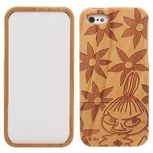 マリモクラフト ムーミン Woodshell for iPhone5 専用 ウッドケース (木製) リトルミイ(花)/ブラウン MOM-049