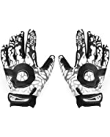 Men's Sports Gloves Mountain Bike Gloves Full Finger Bicycle Gloves Winter Warm Black and White---XL