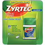 Zyrtec Allergy Relief Tablets, 45 Count, 10 mg each