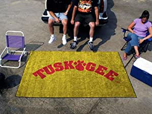 Tuskegee Golden Tigers 5X8ft In/OUT Door Ulti-Mat Tailgate Area Rug/Carpet