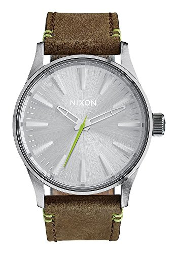 Nixon-Orologio da polso al quarzo unisex in pelle a3772290