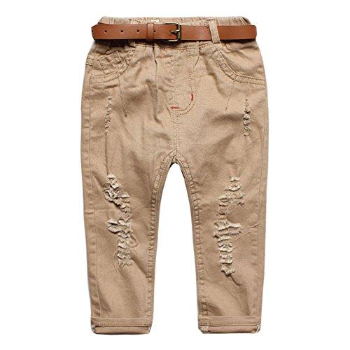 Baby Boys' Do The Holes Wear The Casual Pants Belt Trousers Khaki Size 24M (Boys Capri Pants compare prices)