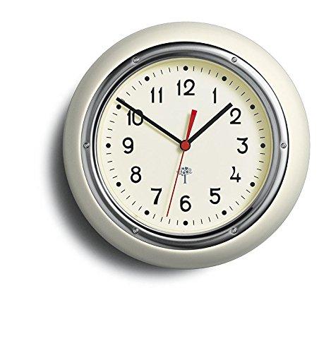 Retro Wall Clock Cream front-553485