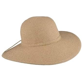 brinley co womens flat brim braided hat at s