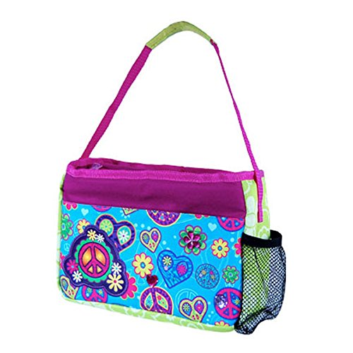 Cool Gear Bling Bag Insulated Lunch Bag with EVA Lining and Water Bottle Pocket (Blue Peace) - 1