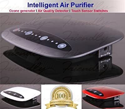 Automatic Air Purifier Ozone generator Intelligent Air Purifier with Air Quality detector touch buttons