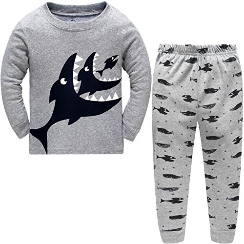 Hugbug Toddler Boys Shark 2-Piece Pajama Set 2-7T