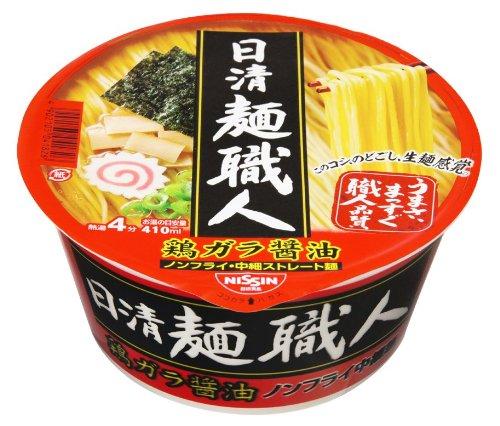 日清 麺職人 醤油 91g×12個
