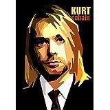 Kurt Cobain - Pop Art A4 CANVAS Wall Art Print - A4 - Cotton Canvas Print - 8...