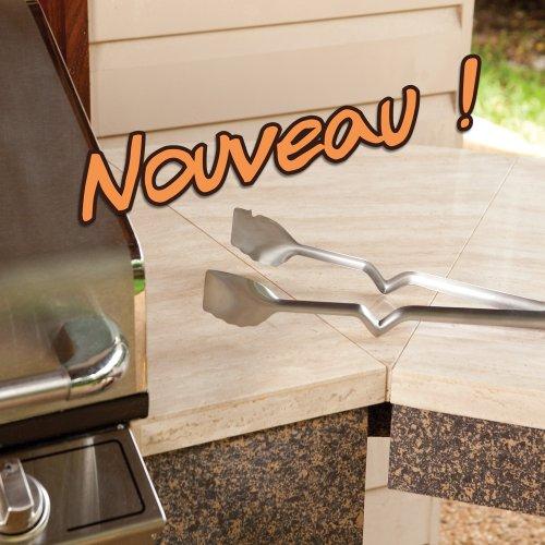 Dreamfarm - Pince longue automatique spéciale Barbecue Clong Noir
