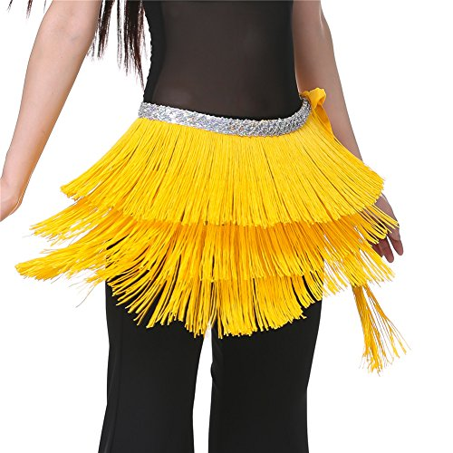 2015 Yellow Triangle Hip Scarf argentina Belly Dance shawl