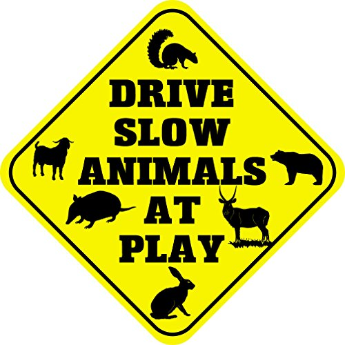 Animal Crossing Sign - Drive Slow Animal at Play