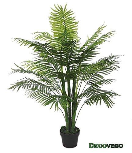 Palmizio palma pianta albero artificiale plastica 130cm for Palma pianta