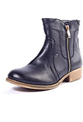 Alexis Leroy 2015 Women's Spring Winter Warm Fashion Stylish Solid Side Zipper Ankle Boots Shoes