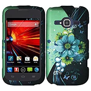 HR Wireless Rubberized Design Cover for ZTE Concord II Z730 - Retail Packaging - Sublime Flower