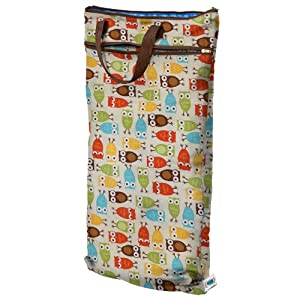 Planet Wise Hanging Wet/Dry Diaper Bag, Owl