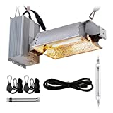 BloomGrow Hydroponics DE 1000W HPS Double Ended Grow Light Fixture Grow Light System Enclosed Kit for Plant Growing