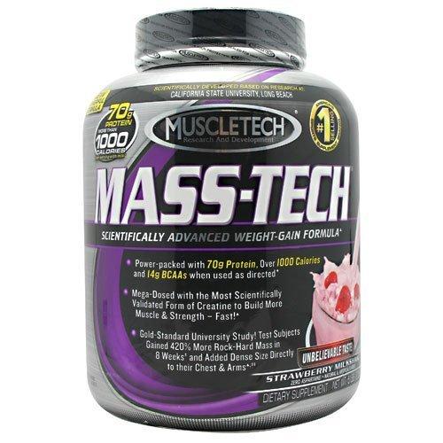 Muscletech Mass Tech Powder - Strawberry Milkshake, 5-pound