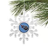 Tennessee Titans Snowflake Ornament Amazon.com