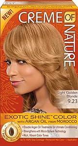 Light golden blonde hair dark and lovely