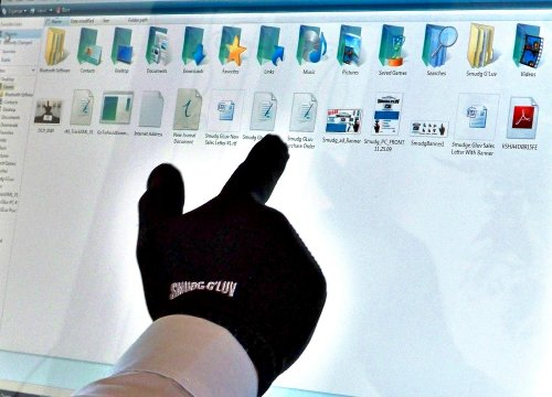 The Original Smudg Glove! For Smudgeless Touchscreen Operation, The Perfect Glove For Touch Screens, New Tech Gadget for i-tablets, smartphones, GPS, Touchscreen Computers.