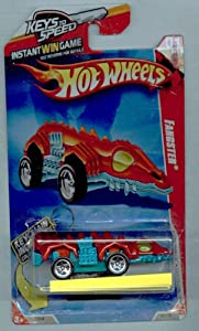 Hot Wheels 2010-185/240 Race World Underground 01/04 Fangster Keys to Speed Instant Win Card W/KeyChain 1:64 Scale