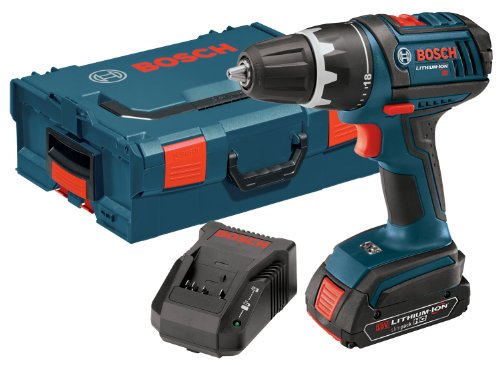 Bosch DDS181-102L 18-Volt Lithium-Ion 1/2-Inch Compact Tough Drill/Driver Kit with High Capacity Battery, Charger and L-BOXX-2 at Sears.com