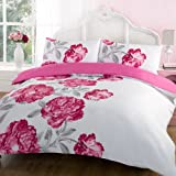 Dreamscene Georgia Duvet Cover Set, Pink, King