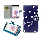 LG G3 Case,Nancy's Shop Sparkle Pattern Premium Pu Leather Wallet [Stand Feature] Type Magnet Design Flip Protective Credit Card Holder Pouch Skin Case Cover for LG G3[NOT for LG G3 vigor/Vista] (Built-in Credit Card/id Card Slot)-(Be Happy Chrysanthemum Nancy's Shop Lg G3 Case Cover)