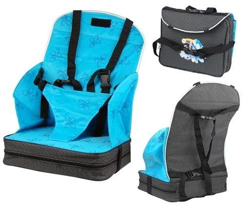 SWT Blue Portable Travel Booster Seat High Chair for Baby / Infant / Toddlers / Preschoolers 1 to 3 Years