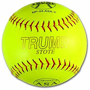 Trump MP-44-ASA-Y MP Leather Series ASA 12 Inch Red Stitch Leather Softball