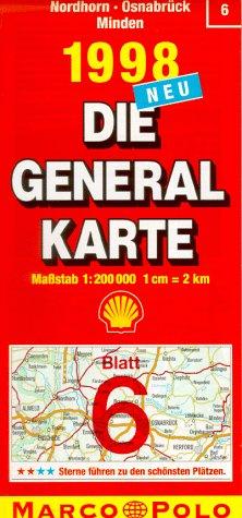 Generalkarte Deutschland 06. Nordhorn, Osnabrück,