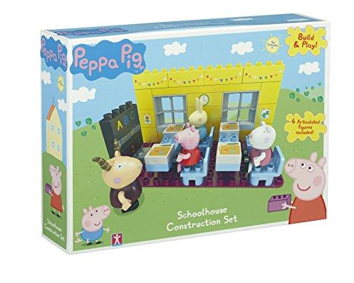 Peppa Wutz - Buil & Play - Konstruktionsspielzeug - Schulhaus + 4 Mini-Figuren