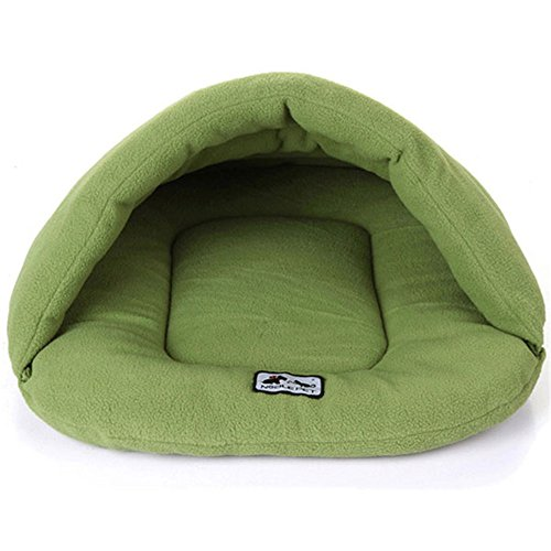 New Soft Warm Dog Cat Bed House Plush Cozy Nest Mat Pad Cushion Green M