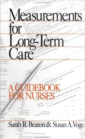 Measurements for Long-Term Care: A Guidebook for Nurses