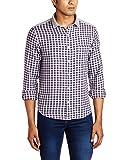 John Miller Men's Casual Shirt (8907130945930_1Vs03122_42_Blue)