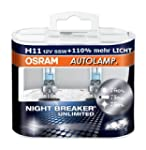 OSRAM Halogenlampe H11 NIGHT BREAKER...