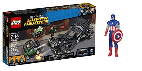 LEGO Super Heroes Kryptonite Interception 306 Pcs & free Gifts Super Hero Adventures Series Captain America (Colors may vary) Toys
