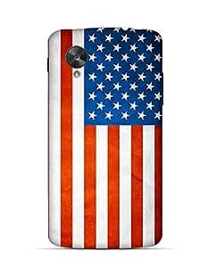 USA flag clear Google Nexus 5 case