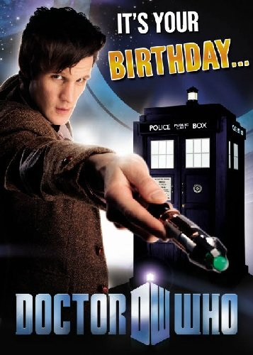 Official Doctor Who Birthday Card With Recorded