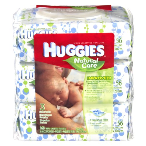 Huggies Natural Care Fragrance Free Soft Pack Wipes , 168 CT (Pack of 6) - 1