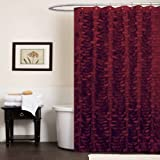 Lush Decor Georgia Shower Curtain, 72-Inch by 72-Inch, Burgandy
