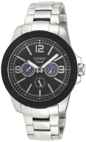 Esprit A.ES105831006 - Reloj analógico de cuarzo para hombre con correa de acero inoxidable, color plateado