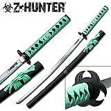 Undead Apocalypse Samurai Zombie Biohazard Sword Katana, Two Tone Carbon Steel Blade