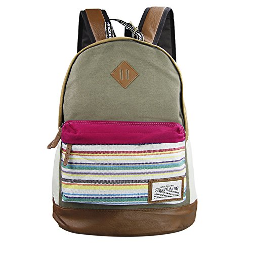 koolertron-casual-daypack-fashion-pack-canvas-leather-travel-hiking-backpacks-campus-school-college-